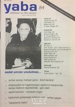 Yaba Edebiyat Dergisi Sayı: 84
