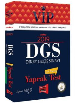 Yargı VIP DGS Çek Kopartlı Yaprak Test 2019 Yeni