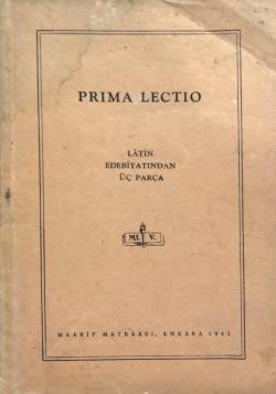 Prima Lectio Latin Edebiyatından Üç Parça 1942 Baskı