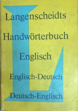 Langenscheidts Handwörterbuch Englisch Englisch-Deutsch De-En