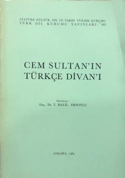 Cem SultanIn Türkçe Divanı 1989 Baskı