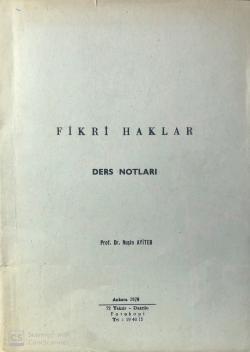 Fikri Haklar