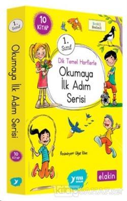 Yuva 1. Sınıf Dik Temel Harflerle Okumaya İlk Adım Serisi (Elakin) Yeni Ses Grupları (10 Kitap Takım)