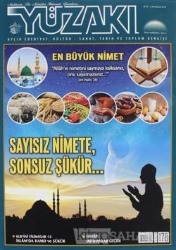 Yüzakı Aylık Edebiyat, Kültür - Sanat, Tarih ve Toplum Dergisi Sayı: 178 Aralık 2019