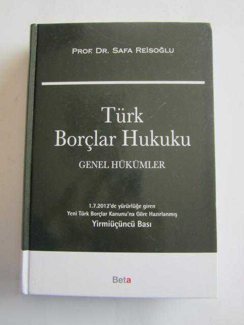 türk borçlar hukuku - Safa Reisoğlu | Yeni ve İkinci El Ucuz Kitabın A