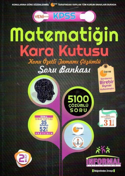 KPSS Matematiğin Kara Kutusu Konu Özetli Tamamı Çözümlü Soru Bankası 2
