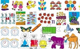 42 Parça Puzzle - Sayılar - Renkler - Şekiller - Kolektif | Yeni ve İk