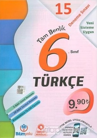 6. Sınıf Türkçe Tam Benlik 15 Deneme Sınavı - Kolektif   Yeni ve İkinc