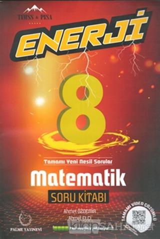 8. Sınıf Enerji Matematik Soru Kitabı - Ahmet Özdemir   Yeni ve İkinci