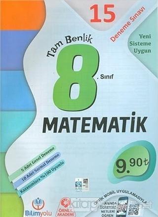 8. Sınıf Matematik Tam Benlik 15 Deneme Sınavı - Kolektif | Yeni ve İk
