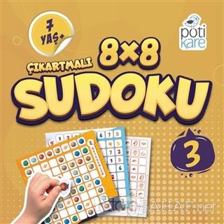 8x8 Çıkartmalı Sudoku 3 - Kolektif   Yeni ve İkinci El Ucuz Kitabın Ad
