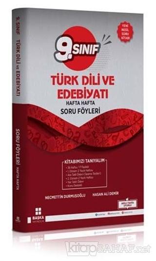 9. Sınıf Türk Dili ve Edebiyatı Hafta Hafta Soru Föyleri - Kolektif |