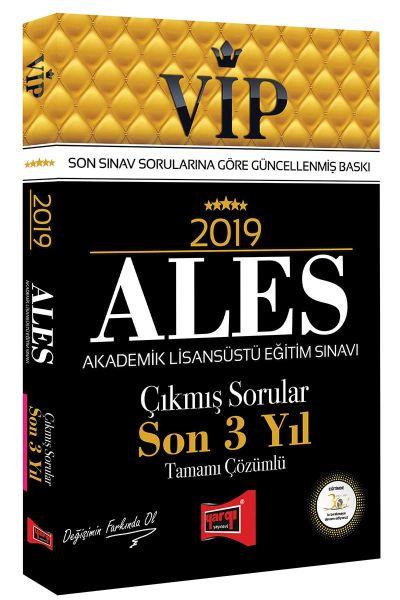 Yargı VIP ALES Son 3 Yıl Tamamı Çözümlü Çıkmış Sorular 2019 Yeni -   Y