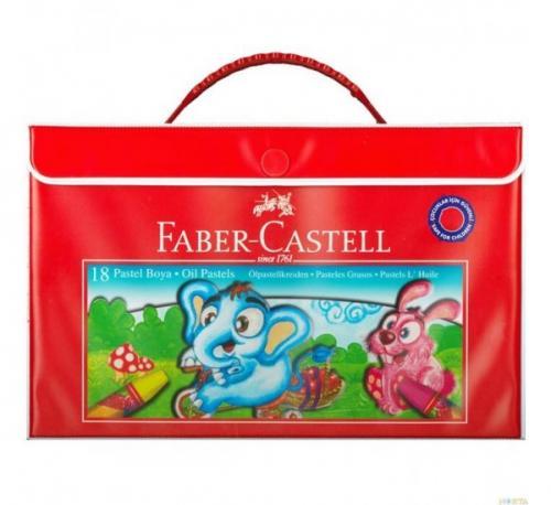 Faber-Castell Plastik Çantalı Pastel Boya 18 Renk - | Yeni ve İkinci E