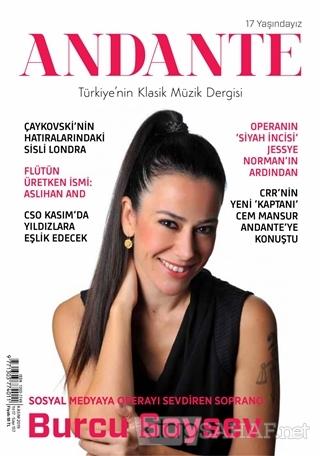 Andante Müzik Dergisi Yıl: 17 Sayı: 157 Kasım 2019 - Kolektif   Yeni v
