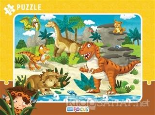 Dinazorlar Çerçeveli Puzzle 72 Parça -   Yeni ve İkinci El Ucuz Kitabı