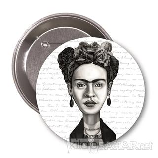 Frida Kahlo (Karikatür) - Rozet - | Yeni ve İkinci El Ucuz Kitabın Adr