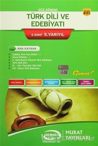 Güz Dönemi Türk Dili ve Edebiyatı 3. Sınıf 5. Yarıyıl - Kolektif | Yen