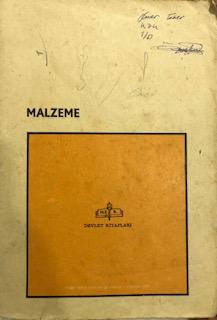 MALZEME - KOMİSYON | Yeni ve İkinci El Ucuz Kitabın Adresi