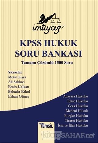 İmtiyaz KPSS Hukuk Soru Bankası Tamamı Çözümlü 1500 Soru - Ali Sakinci
