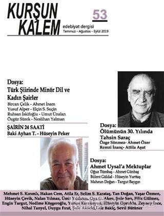Kurşun Kalem Üç Aylık Edebiyat Dergisi Sayı: 53 Temmuz - Ağustos - Eyl