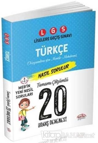 LGS Türkçe Tamamı Çözümlü 20 Branş Denemesi - KOLLEKTİF | Yeni ve İkin