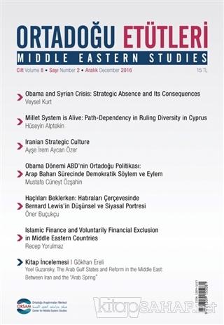 Ortadoğu Etütleri Cilt 8 Sayı 2 Aralık 2016 - Kolektif | Yeni ve İkinc
