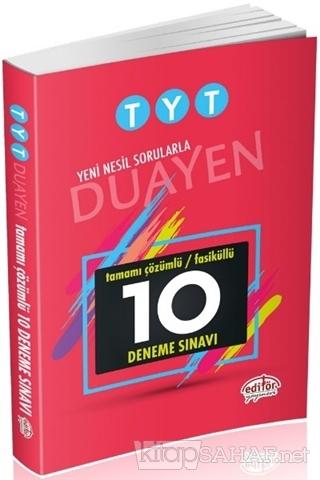 TYT - Yeni Nesil Sorularla Duayen Tamamı Çözümlü Faiküllü 10 Deneme Sı