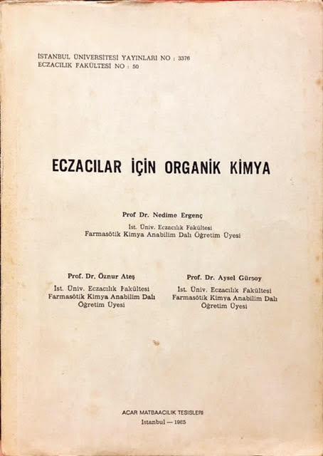 ECZACILAR İÇİN ORGANİK KİMYA - Aysel Gürsoy | Yeni ve İkinci El Ucuz K