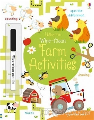 Wipe-Clean - Farm Activities - Kirsteen Robson | Yeni ve İkinci El Ucu