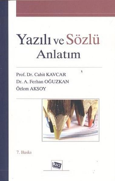 YAZILI VE SÖZLÜ ANLATIM - Cahit Kavcar | Yeni ve İkinci El Ucuz Kitabı
