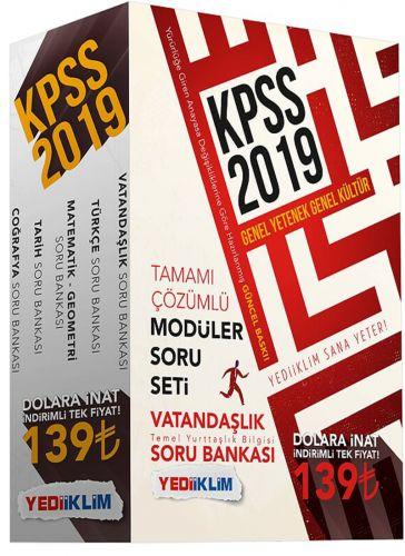 2019 KPSS GENEL YETENEK-GENEL KÜLTÜR SORU BANKASI MODÜLER SET - | Yeni