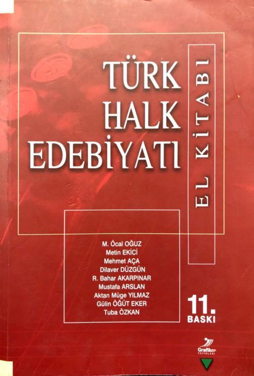 Türk Halk Edebiyatı El Kitabı - M. Öcal Oğuz   Yeni ve İkinci El Ucuz