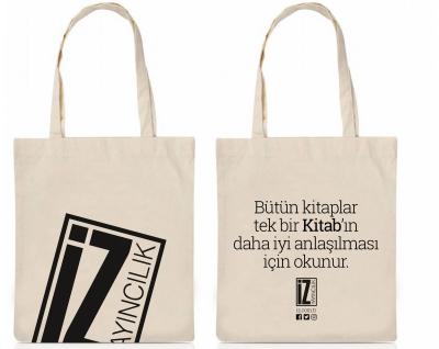 İz Yayıncılık Slogan Tasarımlı Bez Çanta -