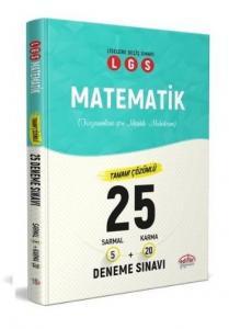 Editör LGS Matematik 25 Deneme 5 Sarmal + 20 Karma Çözümlü 2020-YENİ