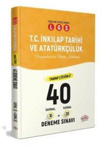 Editör LGS TC İnkılap Tarihi ve Atatürkçülük 40 Deneme 10 Sarmal + 30 Karma Çözümlü 2020-YENİ