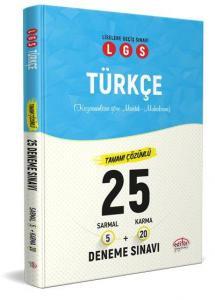 Editör LGS Türkçe 5 Sarmal-20 Karma 25 Deneme Sınavı-YENİ