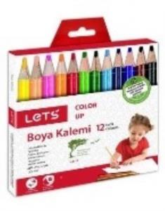 Lets 12 Renk Boya Kalemi Yarım Boy (12'li Paketlerde) L4112