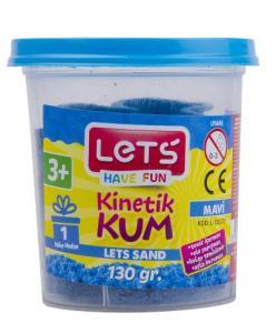 Lets Kinetik Kum 130 gr. Mavi Plastik Kutu