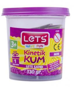 Lets Kinetik Kum 130 gr. Mor Plastik Kutu