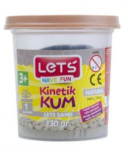 Lets Kinetik Kum 130 gr. Naturel Plastik Kutu