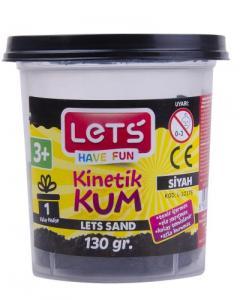 Lets Kinetik Kum 130 gr. Siyah Plastik Kutu
