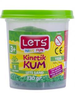 Lets Kinetik Kum 130 gr. Yeşil Plastik Kutu