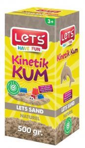 Lets Kinetik Kum 500 gr. Naturel Karton Kutu