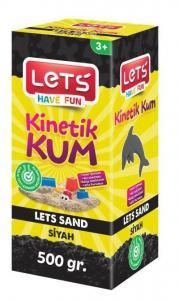 Lets Kinetik Kum 500 gr. Siyah Karton Kutu