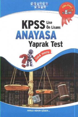 Akıllı Adam KPSS Lise Önlisans Anayasa Yaprak Test