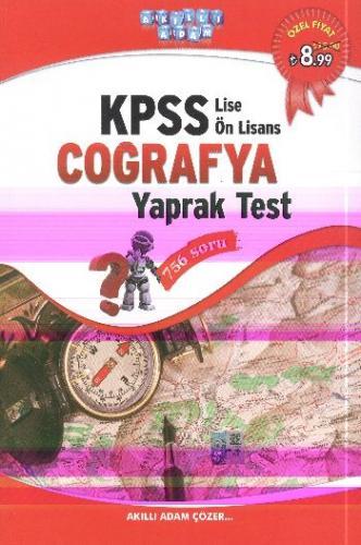 Akıllı Adam KPSS Lise Önlisans Coğrafya Yaprak Test