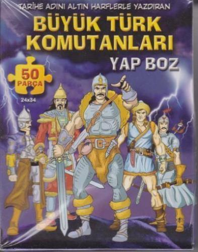Büyük Türk Komutanları Yap Boz 50 Parça Puzzle (Ajans 2023)