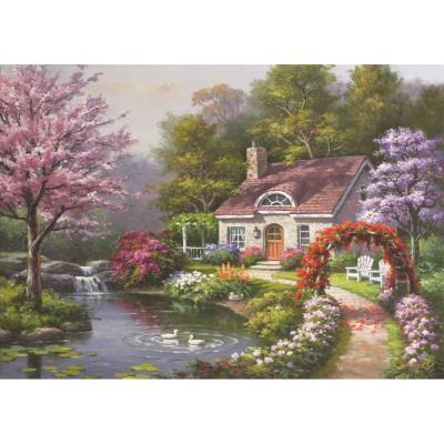 Çiçekli Ev (Puzzle 1500) 4556