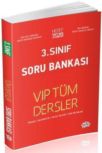 Editör 3. Sınıf VİP Tüm Dersler Soru Bankası-Kırmızı Kitap YENİ